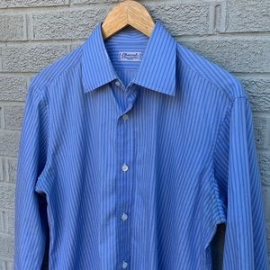 Charvet Button Down Striped Dress Shirt